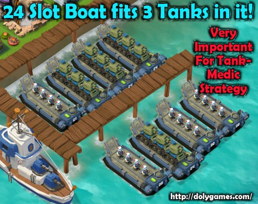 24 Slot Boat fits 3 Tanks