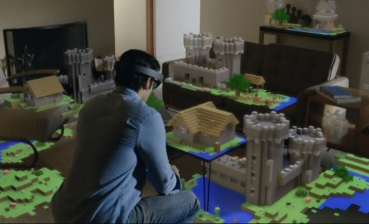 Microsoft HoloLens with Gaming Environment