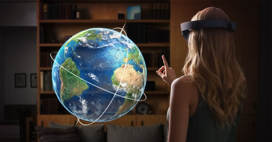 Microsoft HoloLens with Globe