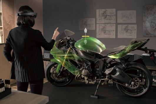 Microsoft HoloLens with Motorcycle Hologram