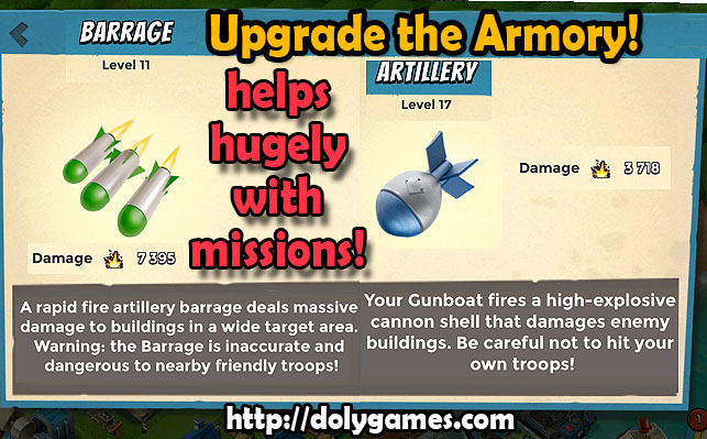 Armory Upgrade is More Important [Boom Beach]