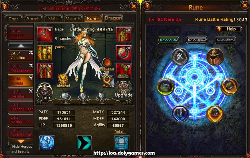 Nereida Hero Stats and Runes