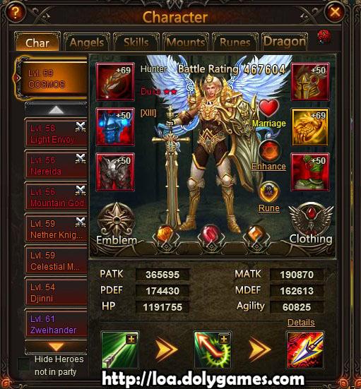 LOA Gauntlet Achievement 12 April 2015 - Main Character 467k BR