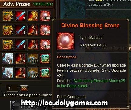 LOA Tycoon #1 reward - Divine Blessing Stones