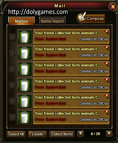 Fresh Milk in Game Mail