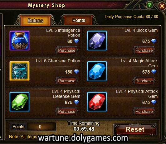 Mystery Shop Wartune silly prices 20 apr 2015
