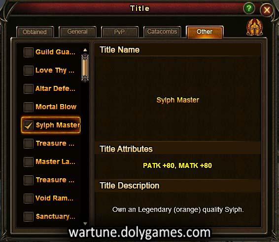 sylph master title