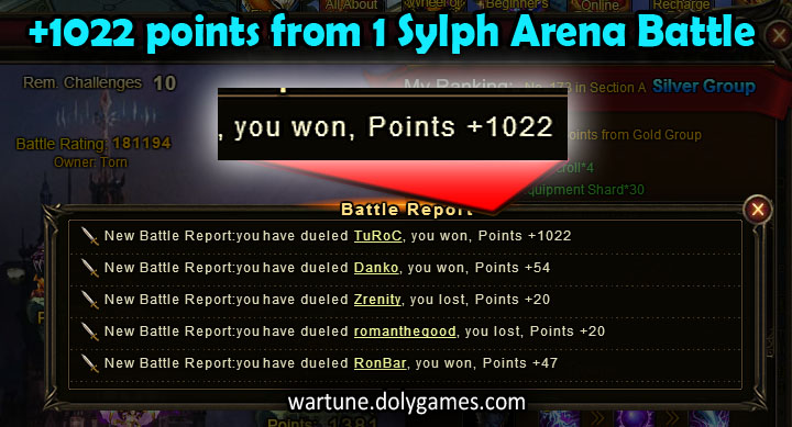 1022 points for Sylph Arena tip (from eKHAN)