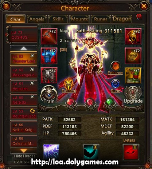 5.18 billion damage Gauntlet Cosmos LOA - Thunder Lord