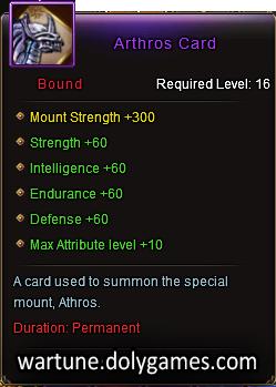 Arthros Card mount description