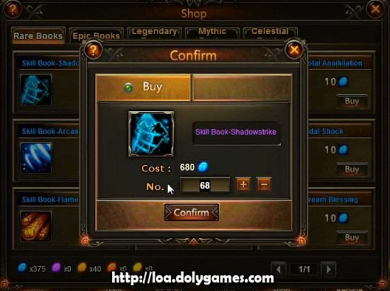 LOA Archer #66 and #67 - Skill Book Shadowstrike