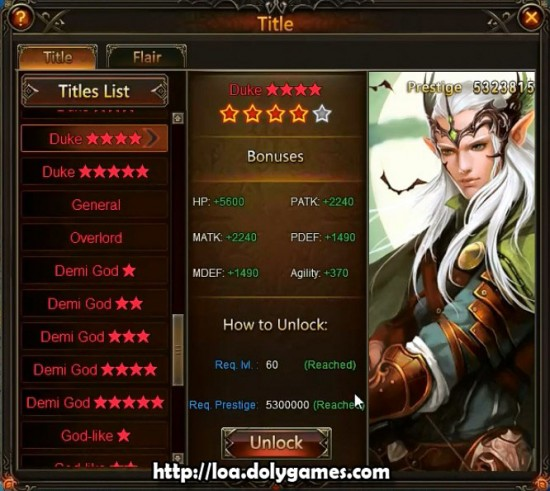 LOA Archer #66 and #67 - Title Duke 4 Stars
