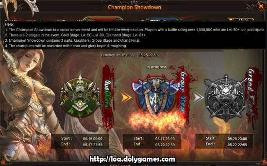 LOA Game Update 3.0389 - Champion Showdown