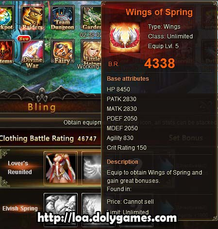 LOA Game Update 3,0385 - Wings of Spring