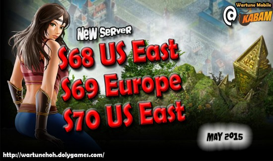 Recent New Servers S68 US East + S69 EU + S70 US East