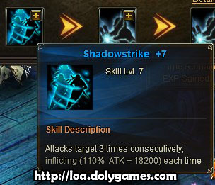 Shadowstrike Skill +7 LOA