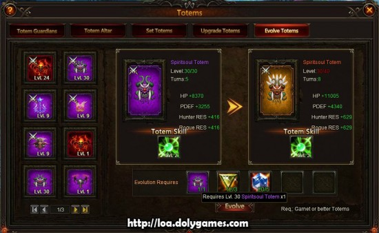 Evolving Totems Guide