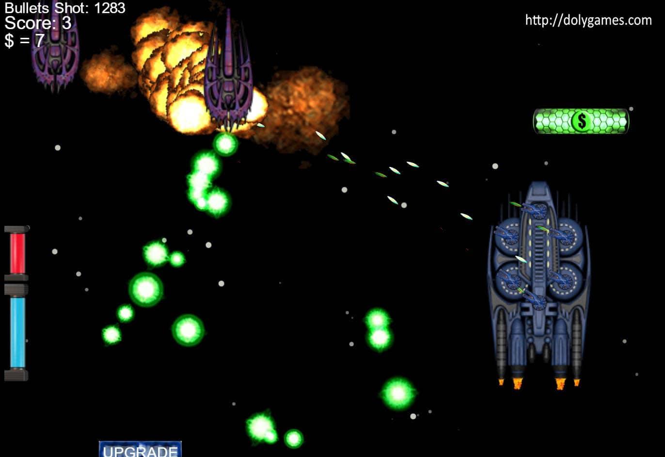 COSMOS's Starship Shooter game screenshot. DolyGames