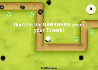 Cosmos's Elements Tower Defense game screenshot. DolyGames